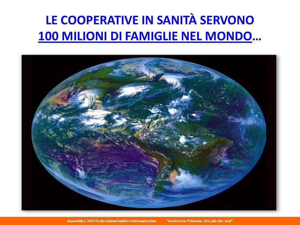 LE COOPERATIVE IN SANITÀ SERVONO 100 MILIONI DI FAMIGLIE NEL MONDO…