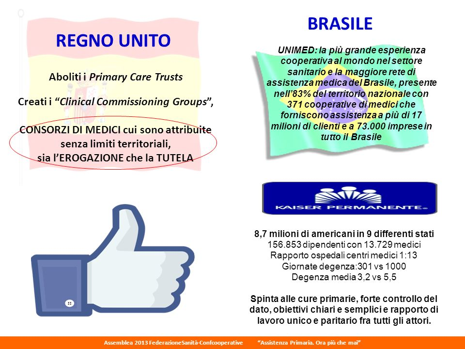 BRASILE REGNO UNITO Aboliti i Primary Care Trusts
