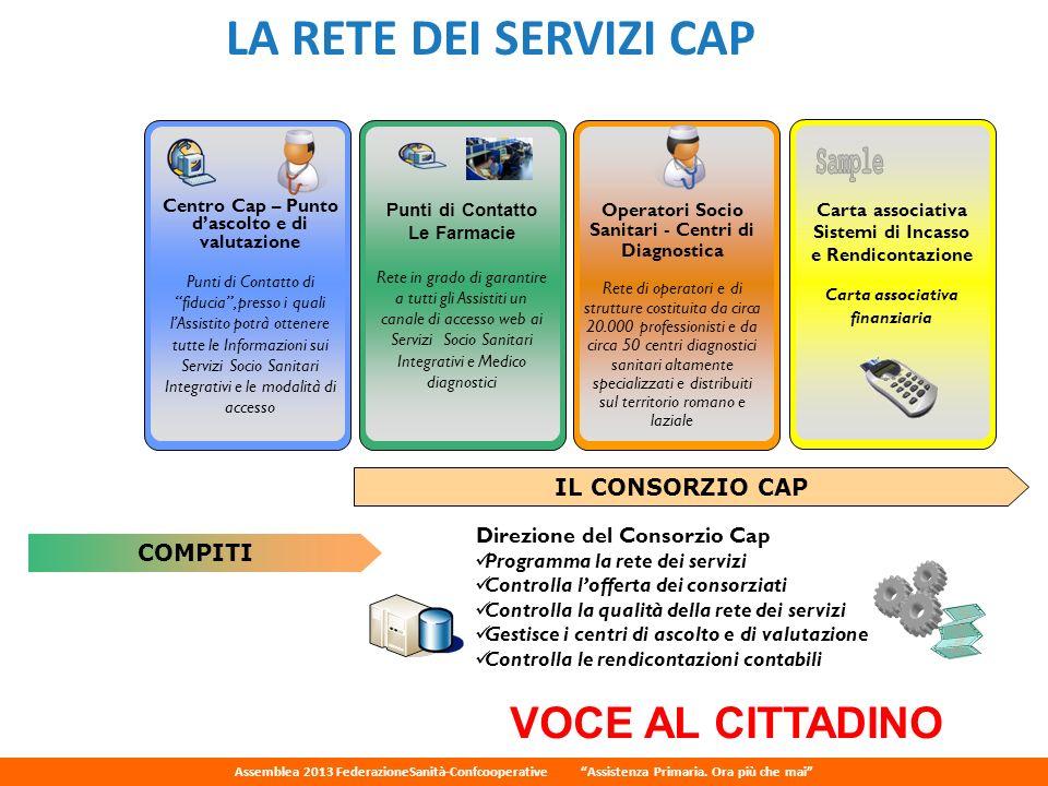 Sample LA RETE DEI SERVIZI CAP VOCE AL CITTADINO IL CONSORZIO CAP