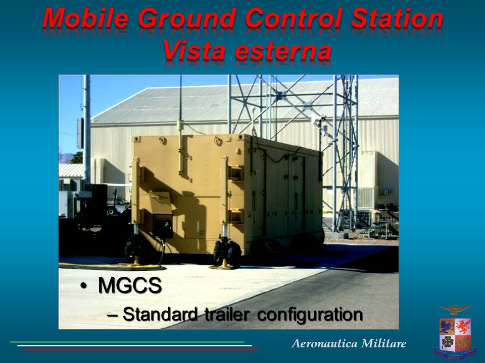 Mobile Ground Control Station Vista esterna