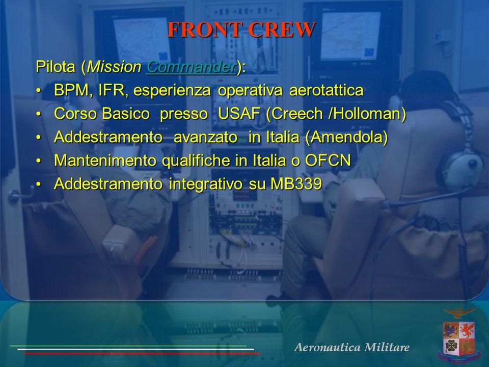 FRONT CREW Pilota (Mission Commander):