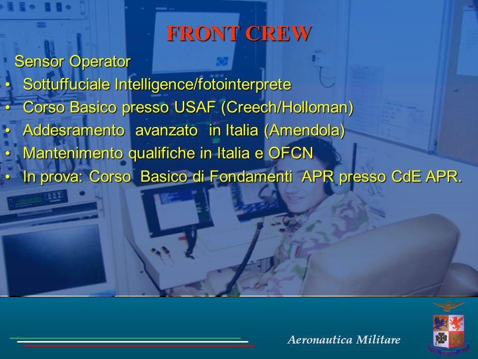 FRONT CREW Sensor Operator Sottuffuciale Intelligence/fotointerprete