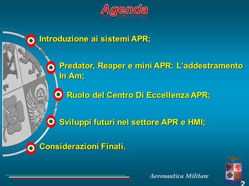 Agenda Introduzione ai sistemi APR;