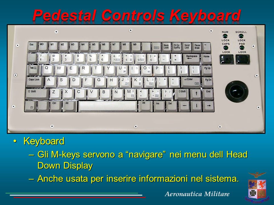 Pedestal Controls Keyboard
