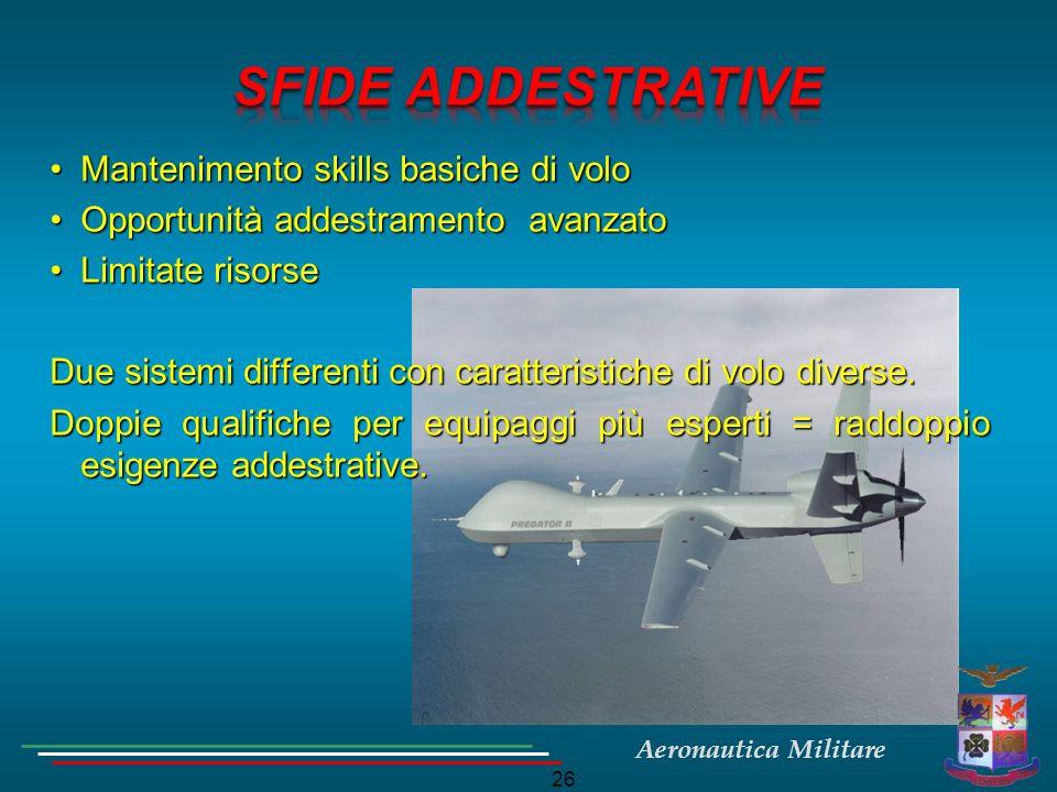 SFIDE ADDESTRATIVE Mantenimento skills basiche di volo