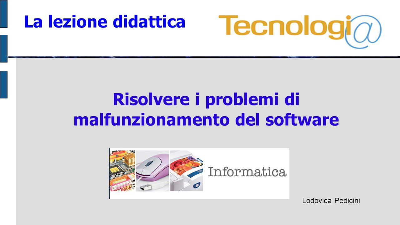 Risolvere i problemi di malfunzionamento del software