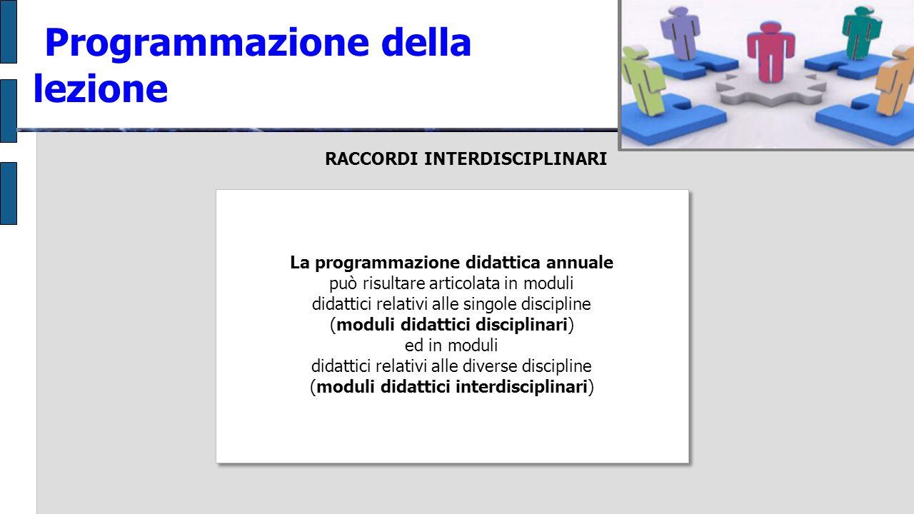 Programmazione della lezione