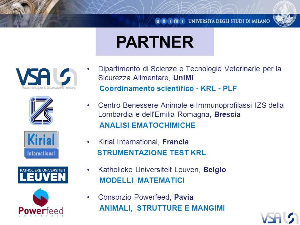 PARTNER Dipartimento di Scienze e Tecnologie Veterinarie per la Sicurezza Alimentare, UniMi. Coordinamento scientifico - KRL - PLF.