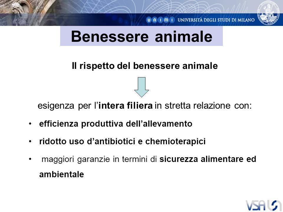 Il rispetto del benessere animale