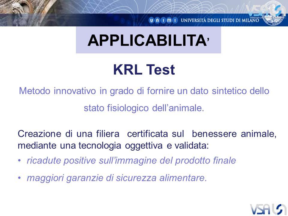 APPLICABILITA' KRL Test