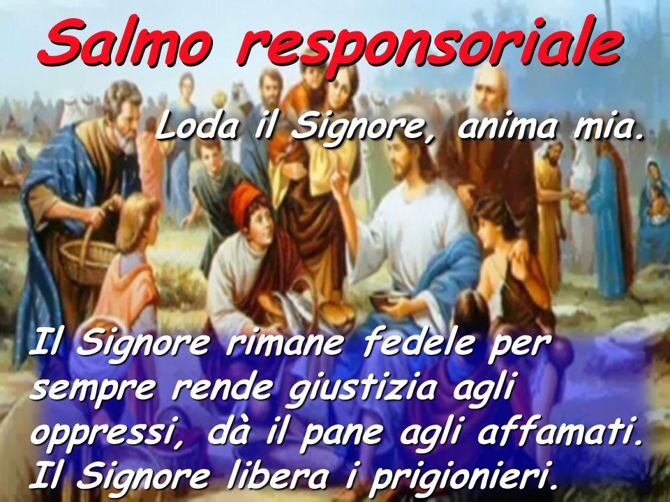 Salmo responsoriale Loda il Signore, anima mia.