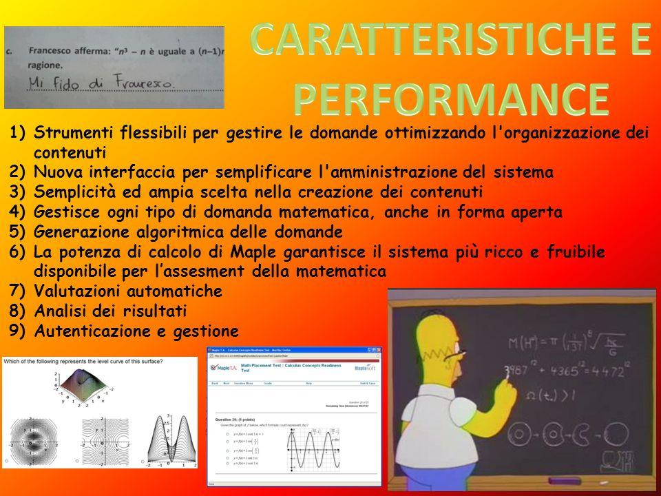 CARATTERISTICHE E PERFORMANCE