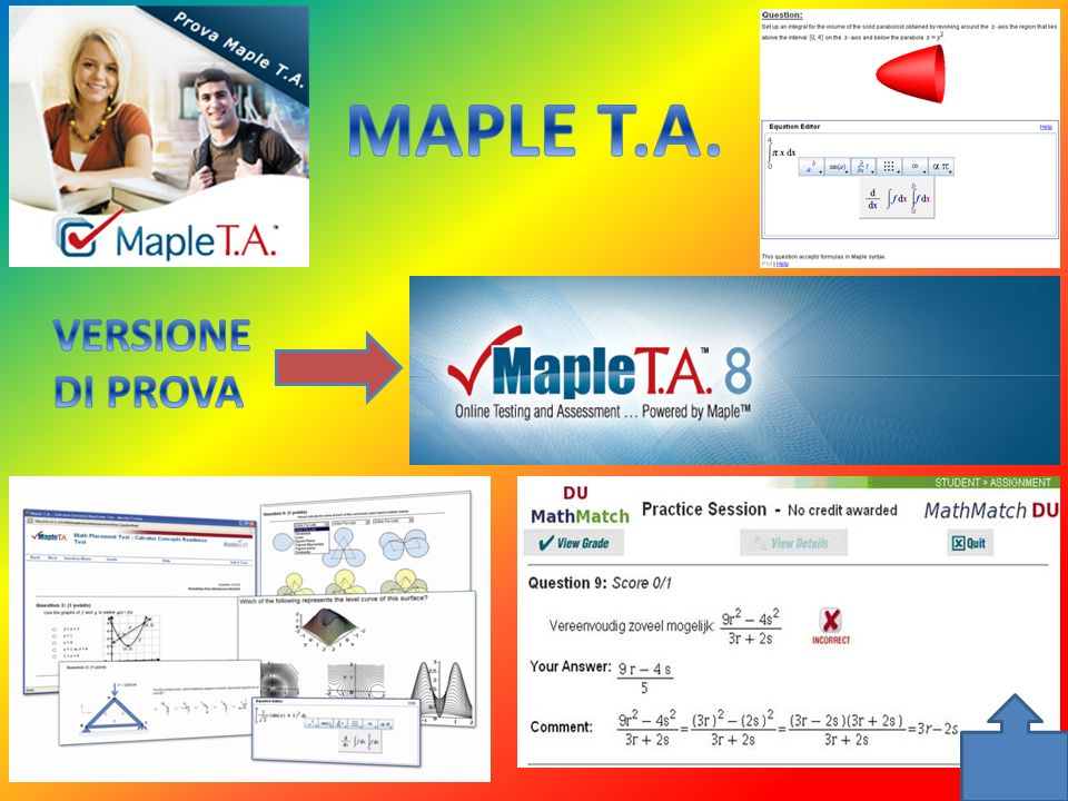 MAPLE T.A. VERSIONE DI PROVA