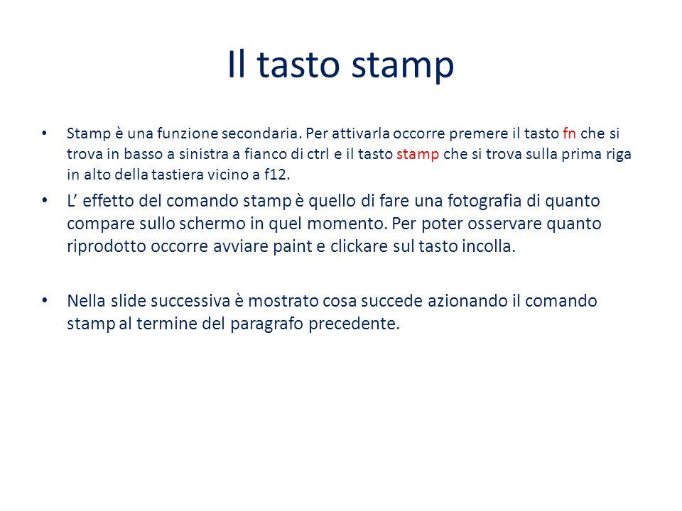 Il tasto stamp