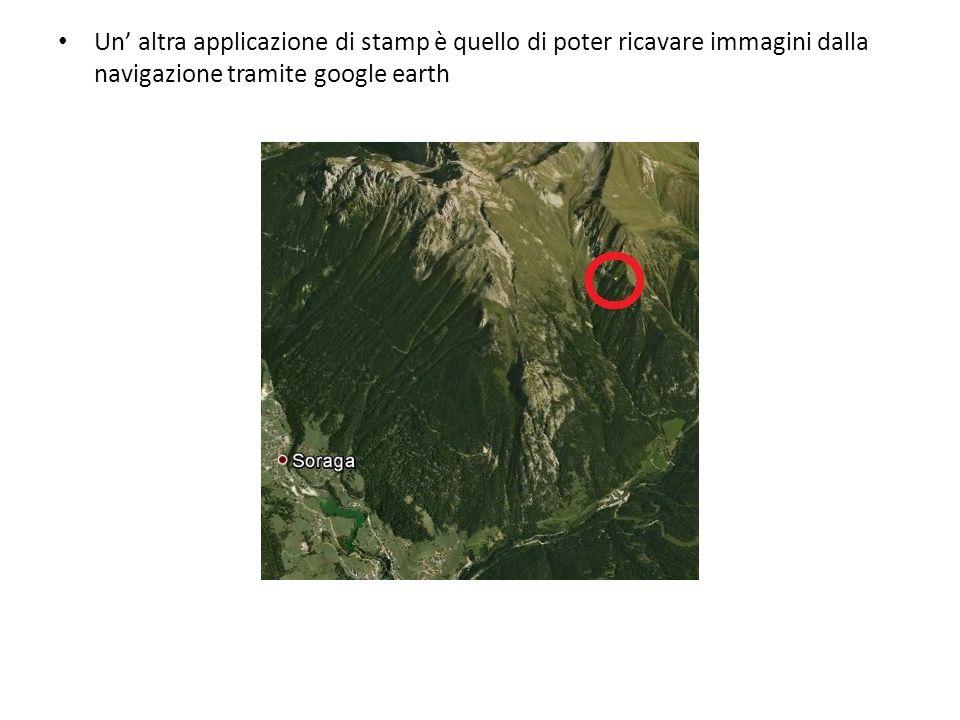 Un' altra applicazione di stamp è quello di poter ricavare immagini dalla navigazione tramite google earth