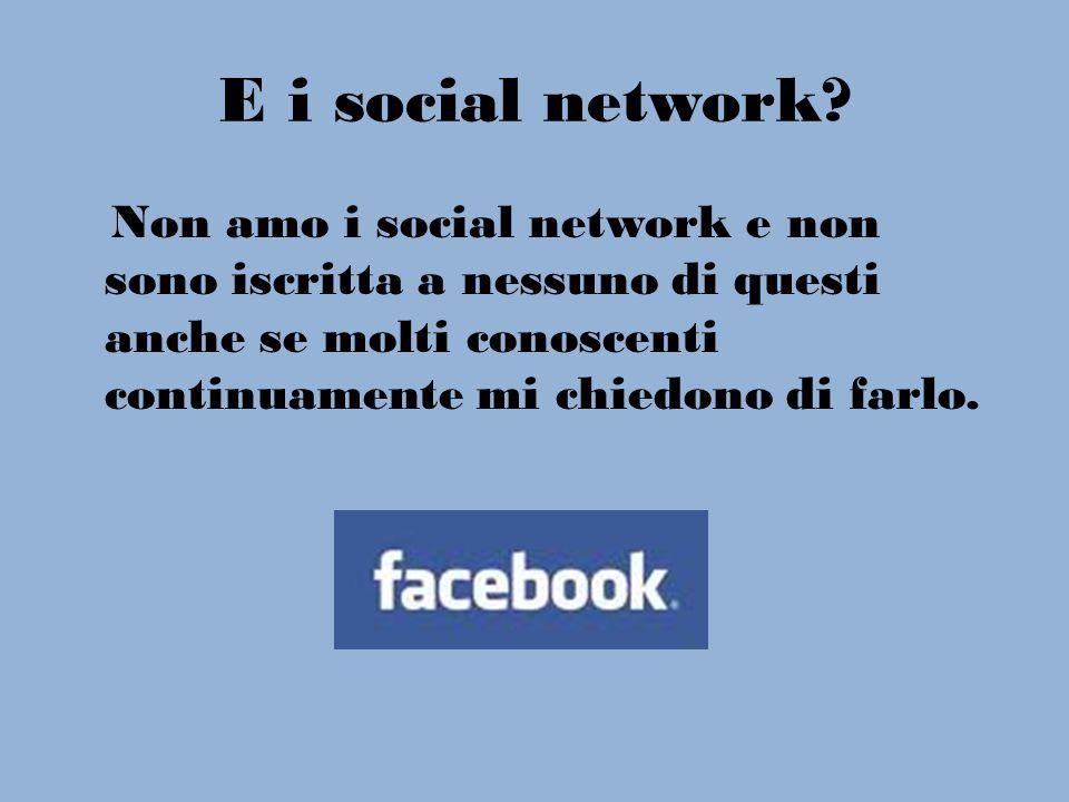 E i social network.