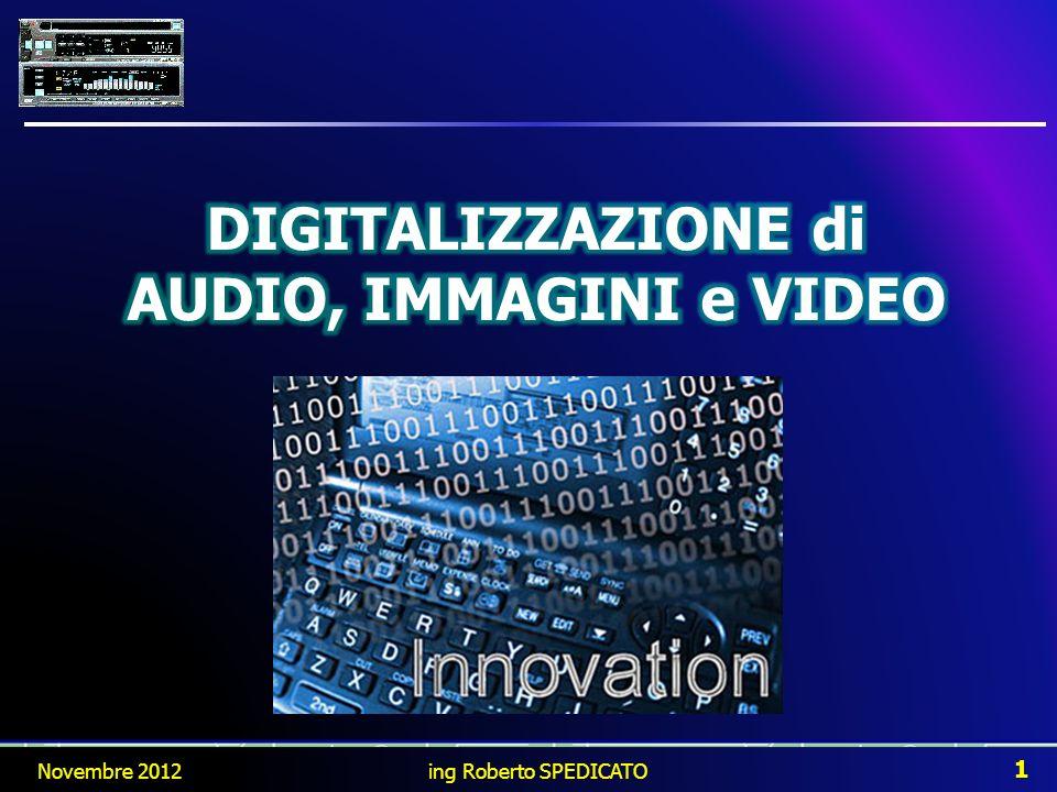 DIGITALIZZAZIONE di AUDIO, IMMAGINI e VIDEO