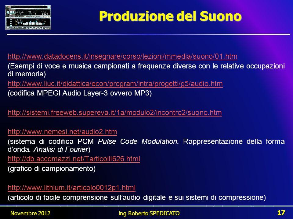 Produzione del Suonohttp://www.datadocens.it/insegnare/corso/lezioni/mmedia/suono/01.htm.
