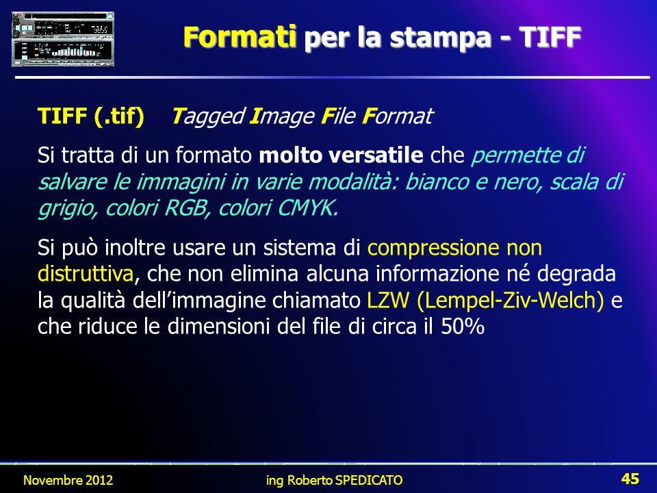 Formati per la stampa - TIFF