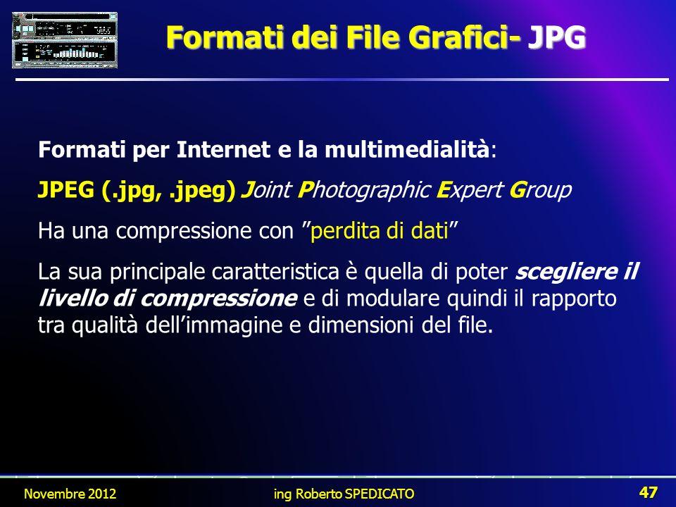 Formati dei File Grafici- JPG