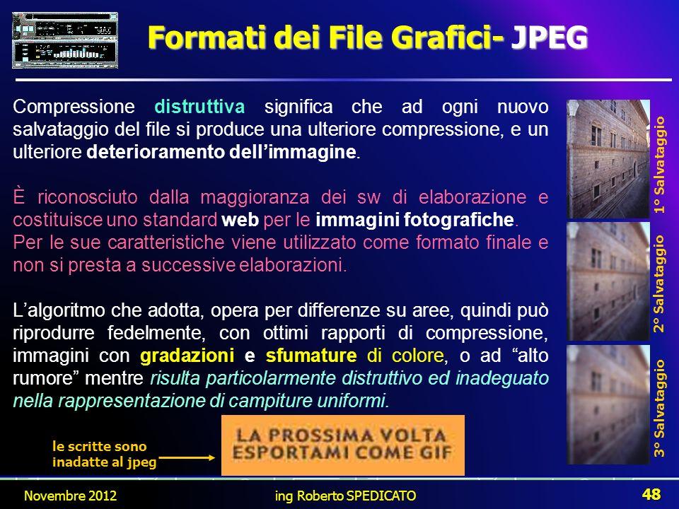 Formati dei File Grafici- JPEG