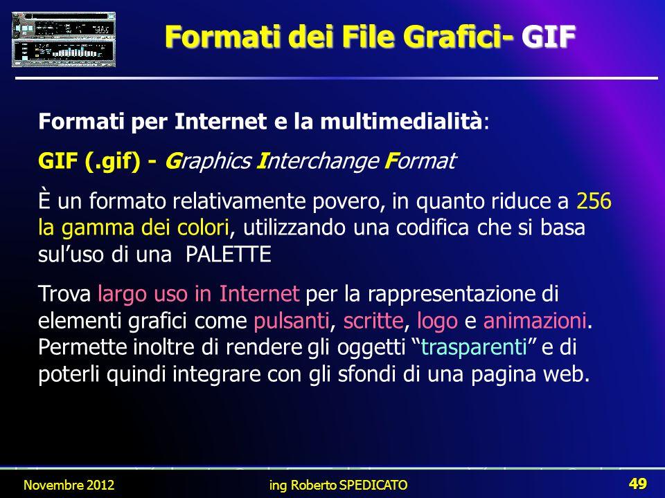 Formati dei File Grafici- GIF