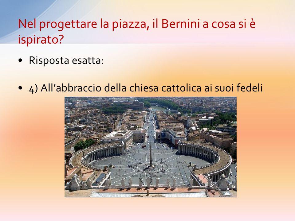 Nel progettare la piazza, il Bernini a cosa si è ispirato
