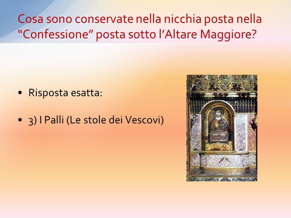 Cosa sono conservate nella nicchia posta nella Confessione posta sotto l'Altare Maggiore