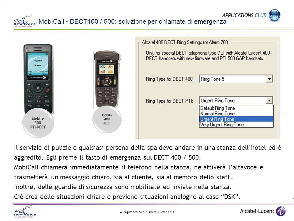 MobiCall - DECT400 / 500: soluzione per chiamate di emergenza