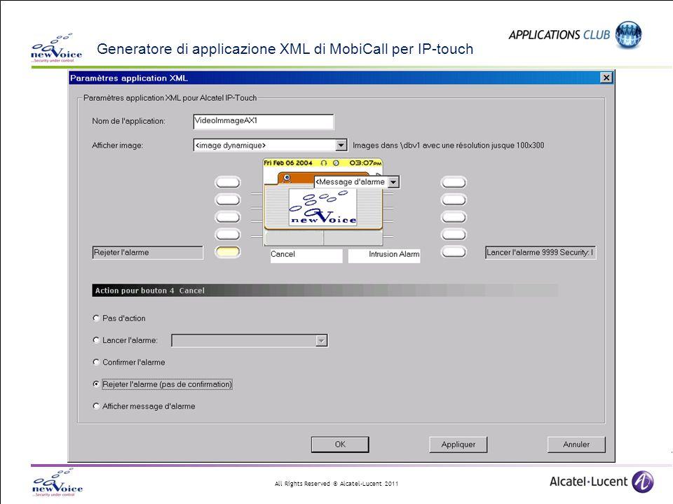 Generatore di applicazione XML di MobiCall per IP-touch