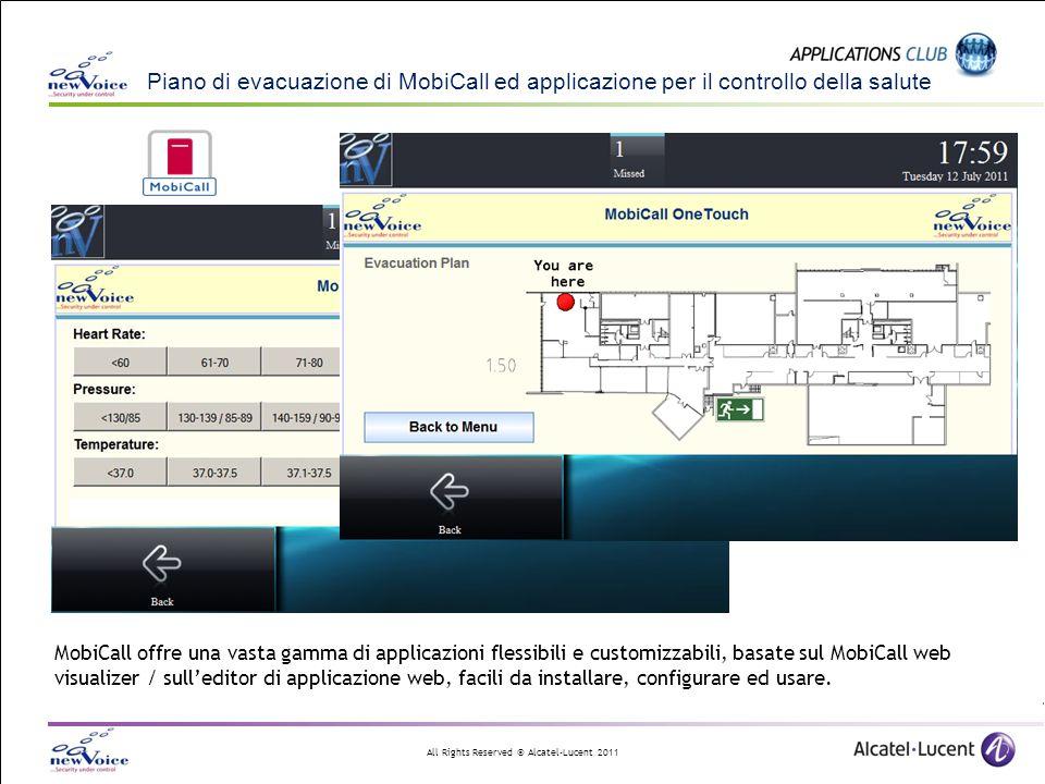 Piano di evacuazione di MobiCall ed applicazione per il controllo della salute