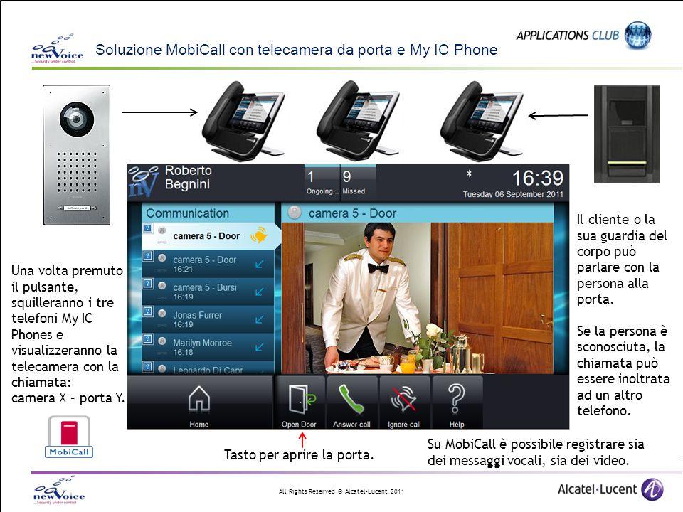 Soluzione MobiCall con telecamera da porta e My IC Phone