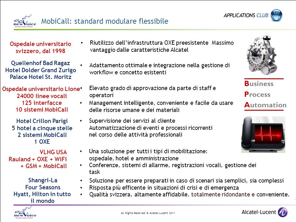 MobiCall: standard modulare flessibile
