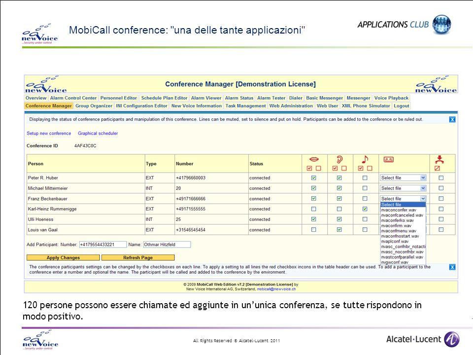 MobiCall conference: una delle tante applicazioni