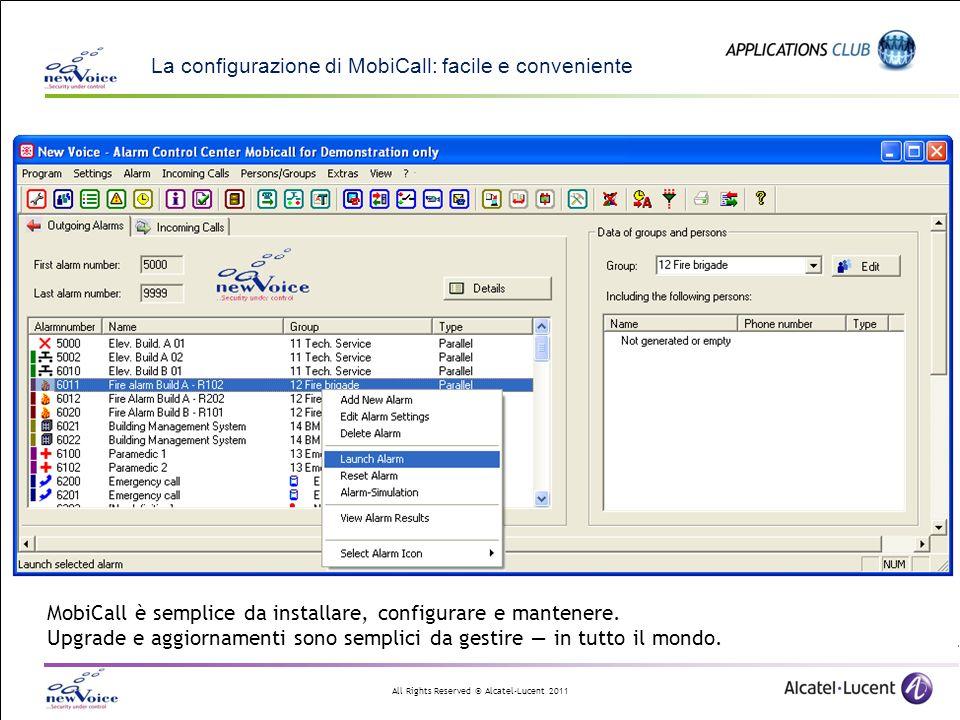La configurazione di MobiCall: facile e conveniente
