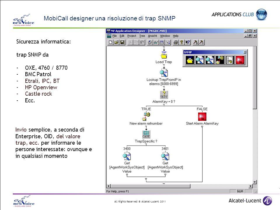 MobiCall designer una risoluzione di trap SNMP