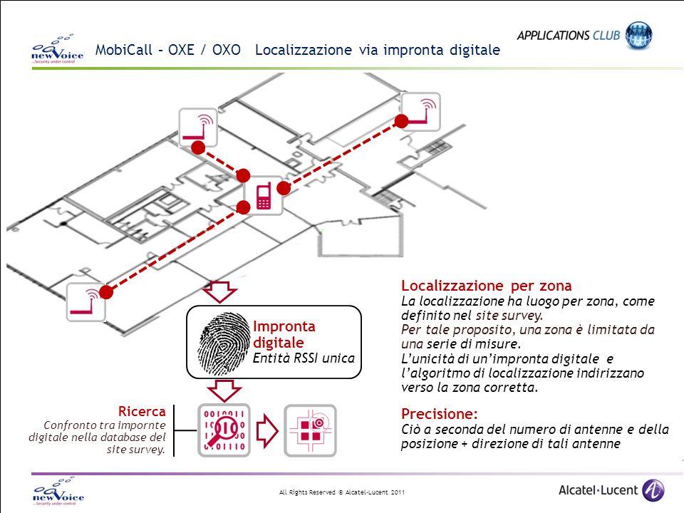 MobiCall – OXE / OXO Localizzazione via impronta digitale