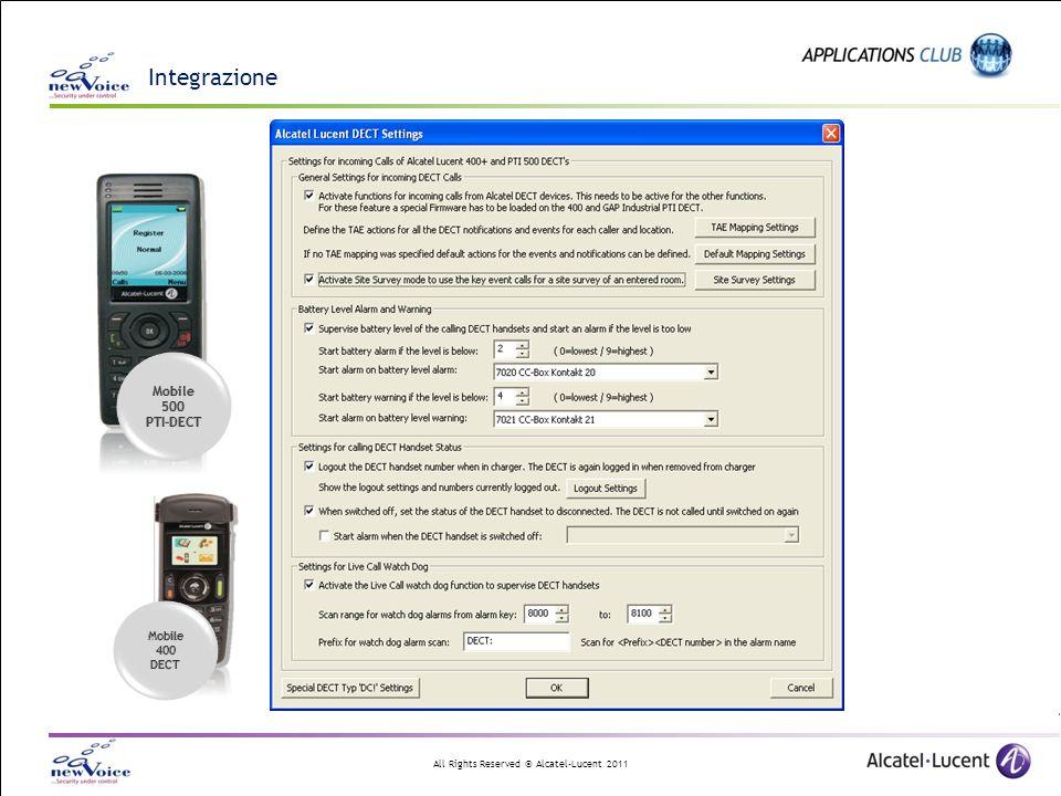 Integrazione Mobile 500 PTI-DECT 400 DECT