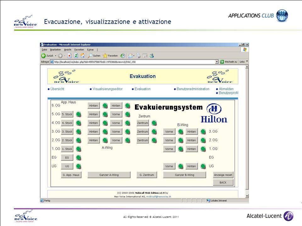 Evacuazione, visualizzazione e attivazione