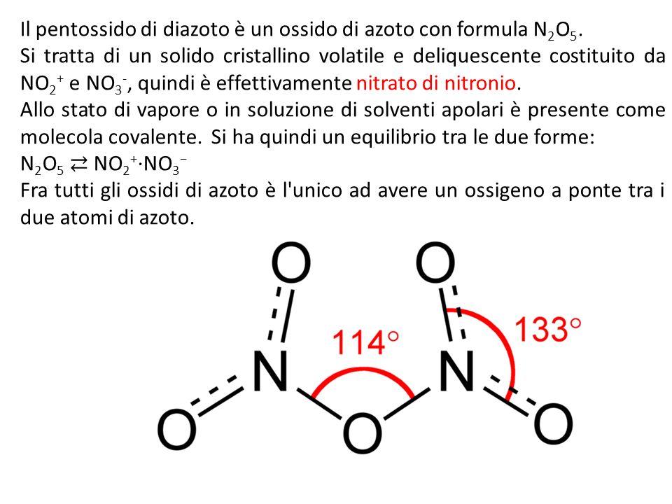 Il pentossido di diazoto è un ossido di azoto con formula N2O5.