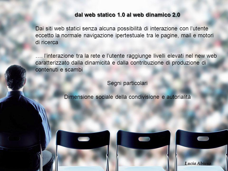 dal web statico 1.0 al web dinamico 2.0