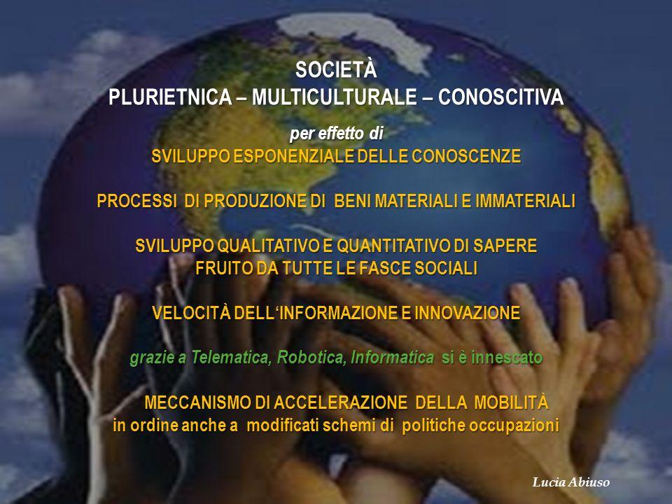 SOCIETÀ PLURIETNICA – MULTICULTURALE – CONOSCITIVA
