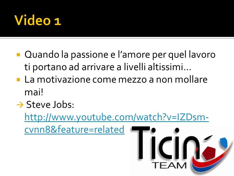 Video 1 Quando la passione e l'amore per quel lavoro ti portano ad arrivare a livelli altissimi… La motivazione come mezzo a non mollare mai!