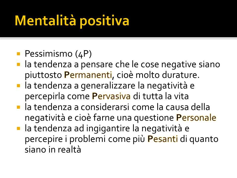 Mentalità positiva Pessimismo (4P)