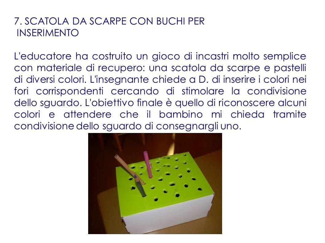 7. SCATOLA DA SCARPE CON BUCHI PER INSERIMENTO