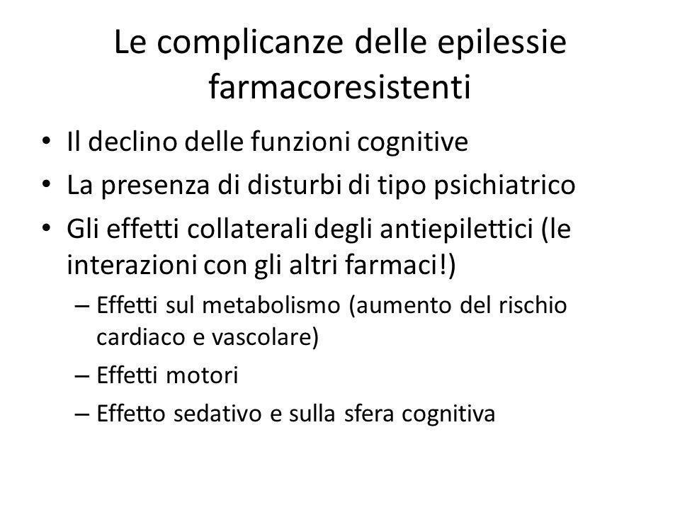 Le complicanze delle epilessie farmacoresistenti