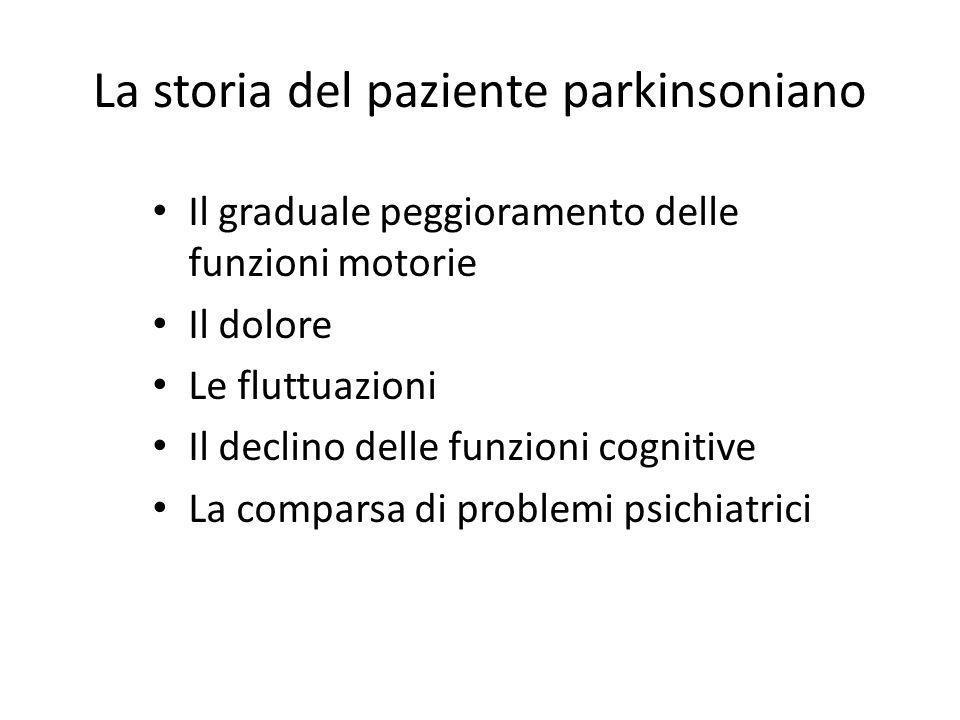 La storia del paziente parkinsoniano