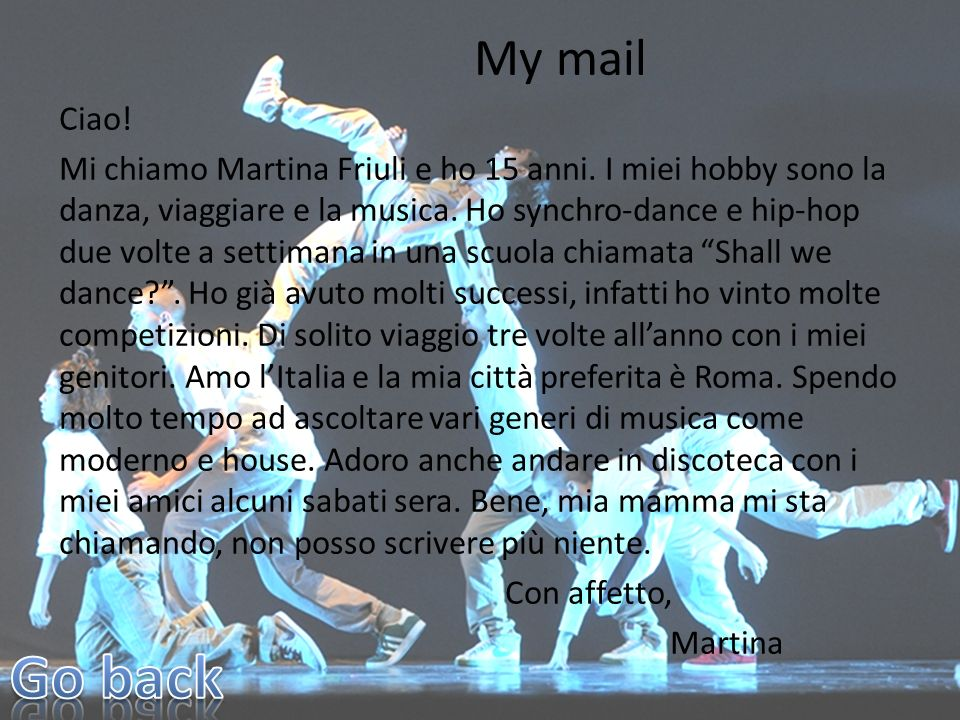 My mail Ciao!