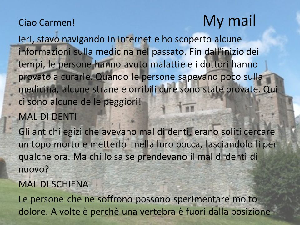 Ciao Carmen.