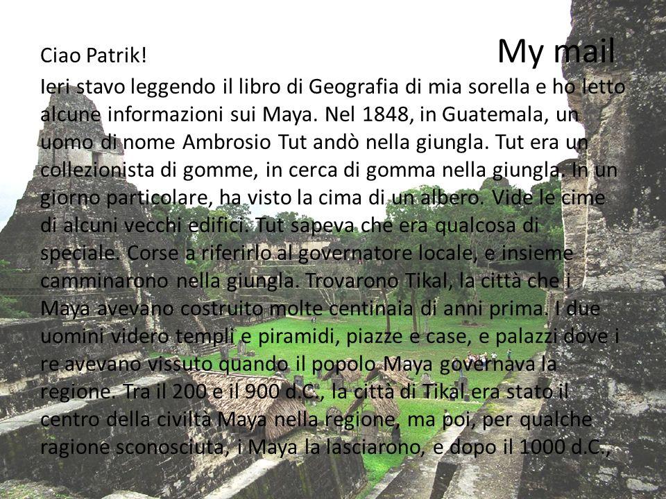 Ciao Patrik.